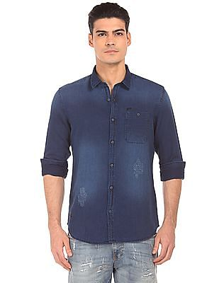 Ed Hardy Slim Fit Washed Shirt