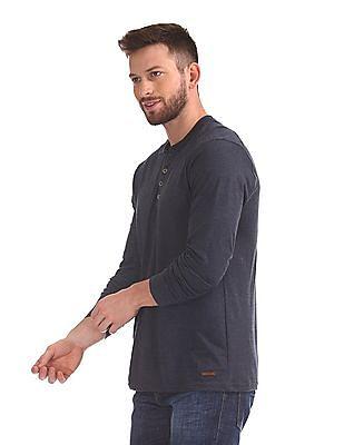Cherokee Long Sleeve Henley T-Shirt