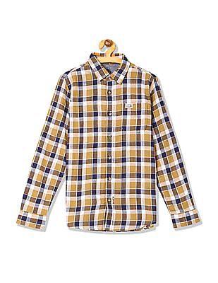 U.S. Polo Assn. Kids Boys Regular Fit Check Shirt