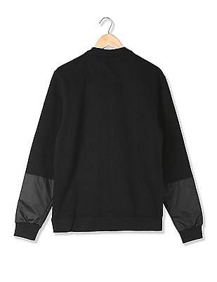 Arrow Newyork Slim Fit Panelled Waist Sweatshirt