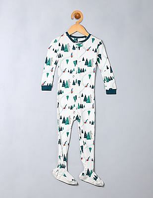 GAP Baby White Yeti Footed One-Piece