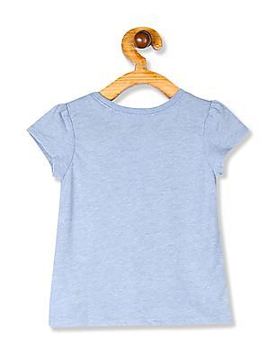 The Children's Place Baby Girls Blue Graphic Print T-Shirt