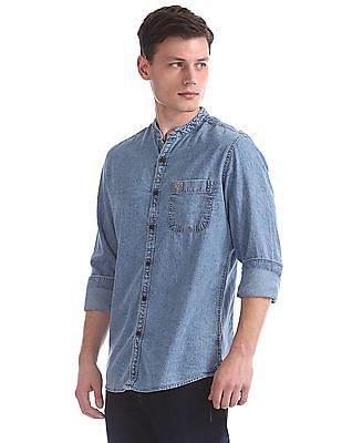 U.S. Polo Assn. Denim Co. Slim Fit Chambray Shirt