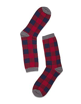 Aeropostale Checkerboard Pattern Crew Length Socks