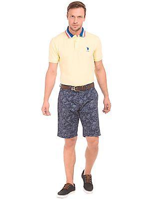 U.S. Polo Assn. Contrast Collar Pique Polo Shirt