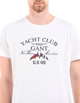 Gant Crew Neck Printed T-Shirt