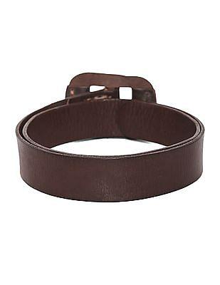 Flying Machine Brown Textured Leather Belt