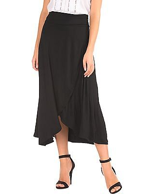 GAP Drapey Wrap Midi Skirt