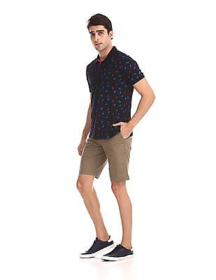 Nautica Mid Rise Solid Shorts