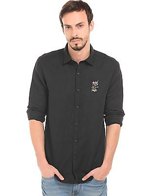 Ed Hardy Solid Linen Shirt