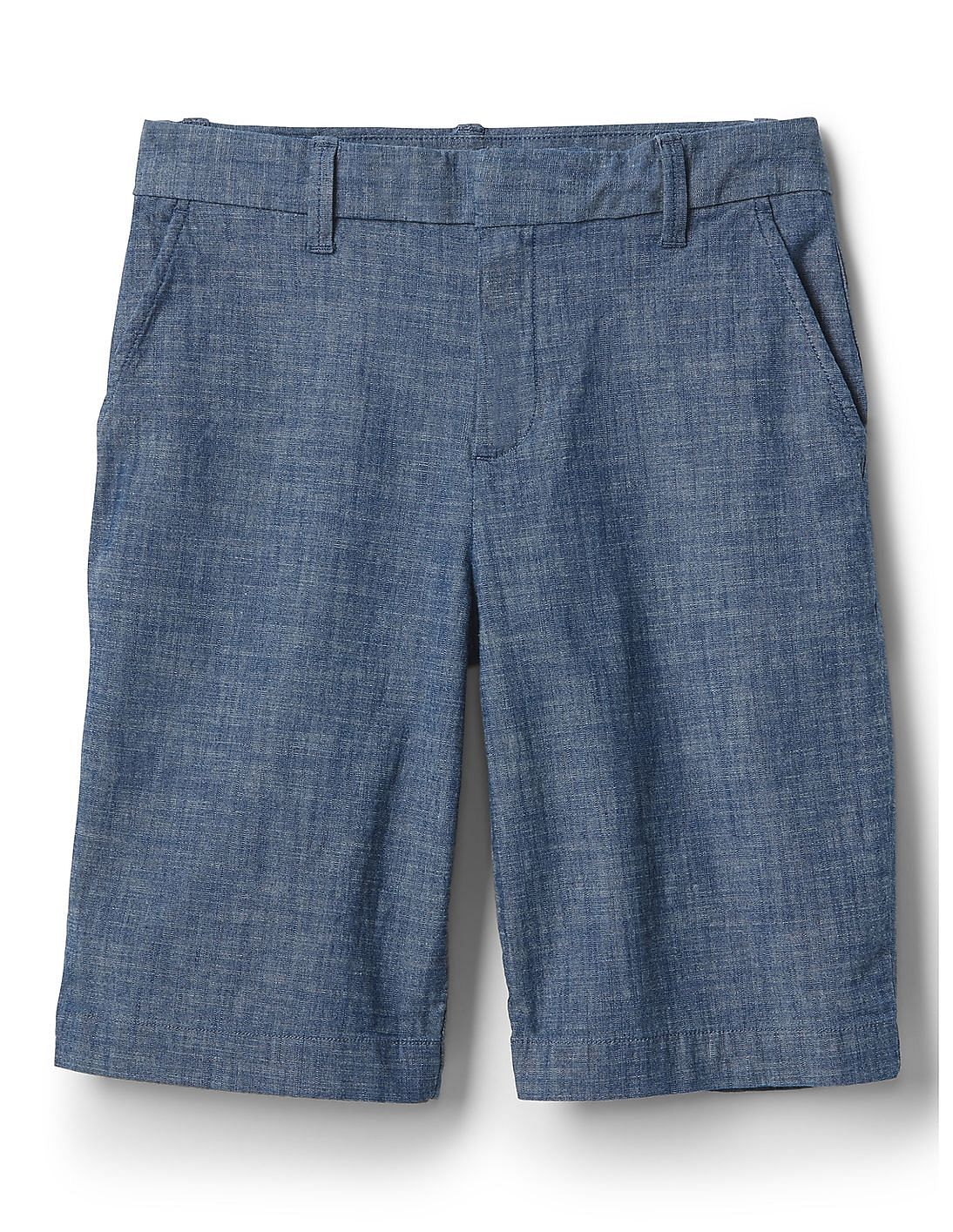 Bermuda In Women Chambray Shorts Buy Stretch Online At USMVqzp