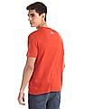 U.S. Polo Assn. Denim Co. Orange Crew Neck Printed T-Shirt