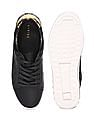 Stride Black Low Top Laser Cut Sneakers