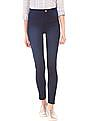 Flying Machine Women Dark Wash High Rise Jeggings
