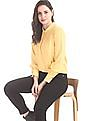 Elle Studio Yellow Band Neck Solid Top