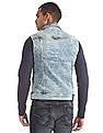 Flying Machine Sleeveless Washed Denim Jacket