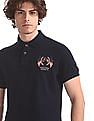 U.S. Polo Assn. Denim Co. Blue Solid Pique Polo Shirt