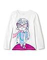 The Children's Place Girls White Long Sleeve Printed T-Shirt