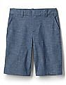 GAP Women Blue Bermuda Shorts In Stretch Chambray