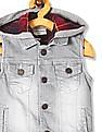 Cherokee Grey Boys Hooded Denim Jacket