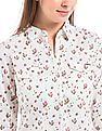 Flying Machine Women Floral Print Regular Fit Shirt