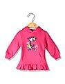 Donuts Girls Printed Ruffled Hooded Sweatshirt