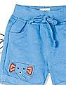 Donuts Blue Boys Appliqued Knit Shorts