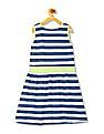 U.S. Polo Assn. Kids Girls Sleeveless Stripe Fit And Flare Dress