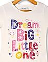 Cherokee Girls Glitter Print Cotton T-Shirt