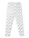 Cherokee White Girls Monocycle Print Cotton Stretch Leggings