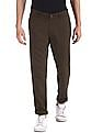 Ruggers Brown Modern Slim Fit Patterned Trousers
