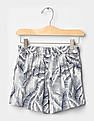GAP Girls White Tropical Leaf Soft Shorts