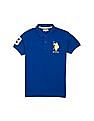 U.S. Polo Assn. Kids Boys Solid Pique Polo Shirt