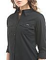 Flying Machine Women Regular Fit Cotton Lycra Shirt