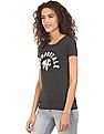 Aeropostale Appliqued Front Heathered T-Shirt