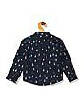 Donuts Boys Mandarin Collar Printed Shirt