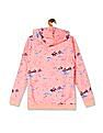 U.S. Polo Assn. Kids Orange Girls Hooded Brand Print Sweatshirt
