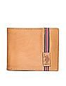 U.S. Polo Assn. Striped Panel Leather Wallet