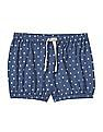 GAP Toddler Girl Blue Jersey Bubble Shorts