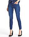 GAP Women Blue Authentic 1969 Embroidered True Skinny Ankle Jeans