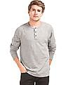 GAP Men Grey Athletic Marled Henley