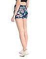 Aeropostale Green Floral Print Active Shorts