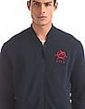 U.S. Polo Assn. Blue Welt Pocket Zip Up Sweatshirt
