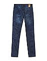 Flying Machine Women Blue Mid Rise Printed Jeans
