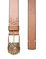 Ed Hardy Statement Buckle Leather Belt