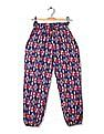 Cherokee Girls Drawstring Waist Printed Pants