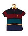 U.S. Polo Assn. Kids Multi Colour Boys Striped Pique Polo Shirt