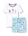 The Children's Place Girls Short Sleeve 'Breakfast Lunch Dinner' Ice Cream Top And Ice Cream Print Shorts Pj Set