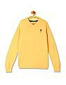 U.S. Polo Assn. Kids Boys Solid V-Neck Sweater