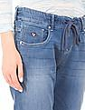 U.S. Polo Assn. Women Drawstring Waist Washed Jogger Jeans